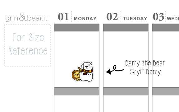 Gryff Barry! - Barry the Bear Stickers (BB077)