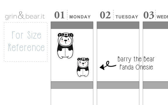 Panda Onesie Barry! - Barry the Bear Stickers (BB078)