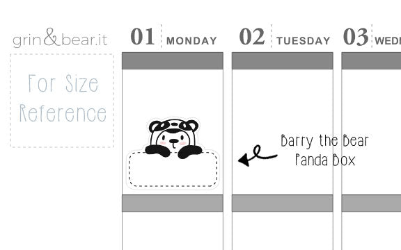 Panda Barry Box! - Barry the Bear Stickers (BB080)