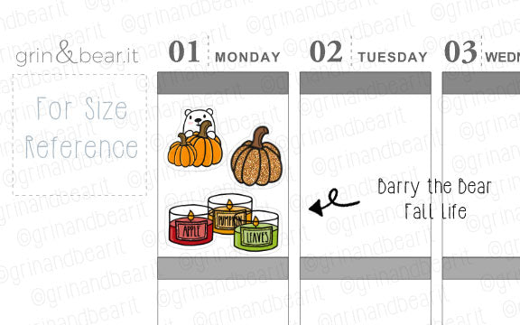 Fall Life Barry! - Barry the Bear Stickers (BB086)