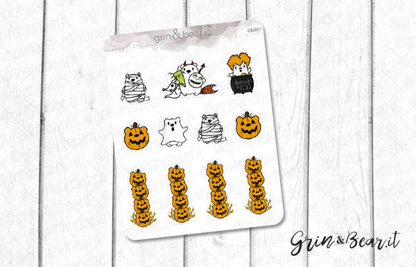 Halloween Barry! - Barry the Bear Stickers (BB089)