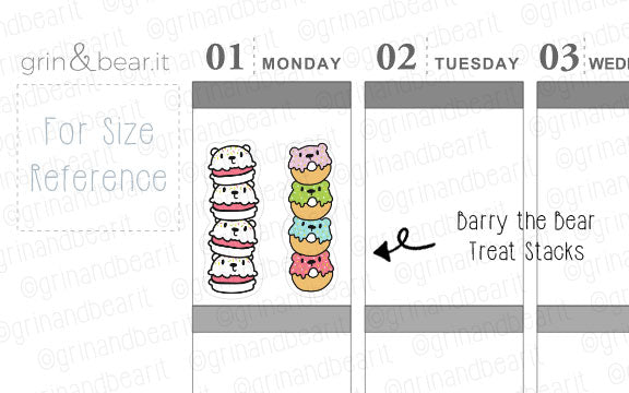 Treat Stacks Barry! - Barry the Bear Stickers (BB090)
