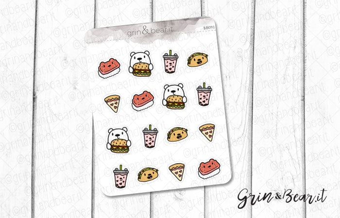 Foodie Group Barry! - Barry the Bear Stickers (BB091)