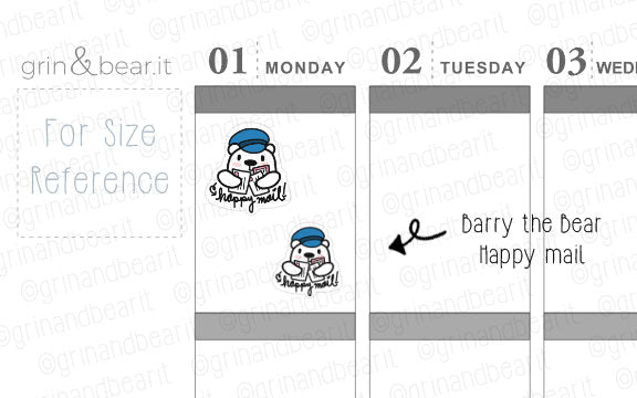 Happy Mail Barry! - Barry the Bear Stickers (BB096)