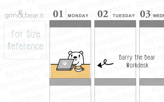 Workdesk Barry! - Barry the Bear Stickers (BB097)
