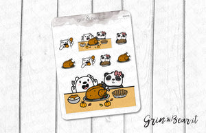 Thanksgiving Barry & Bella! - Barry the Bear Stickers (BB098)