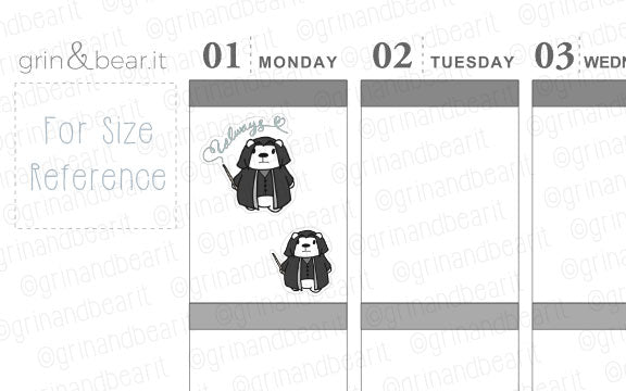 Snape Always Barry! - Barry the Bear Stickers (BB103)