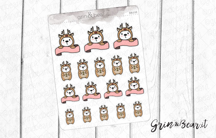 Rudolph Onesie Barry! - Barry the Bear Stickers (BB110)
