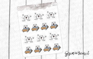 Winter Fun Barry! - Barry the Bear Stickers (BB113)