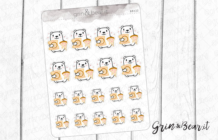 Pizza Love Barry! - Barry the Bear Stickers (BB122)
