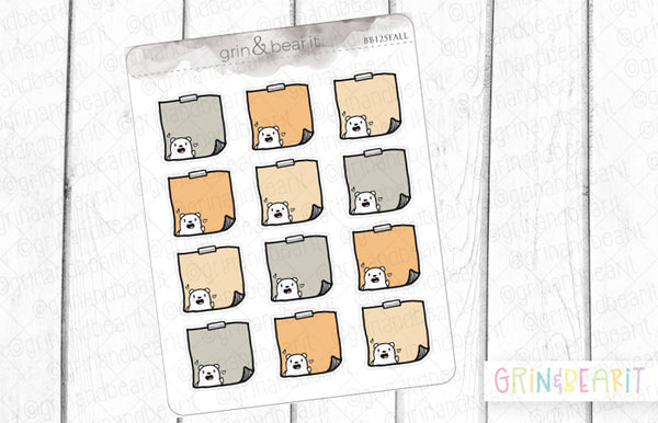 StickyNote Barry! - Barry the Bear Stickers (BB125)