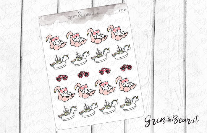 Heart Sunnies Barry! - Barry the Bear Stickers (BB129)