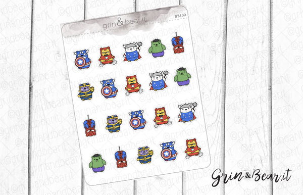 Avengers Barry! - Barry the Bear Stickers (BB130)