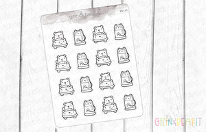 Car Barry! - Barry the Bear Stickers (BB135)