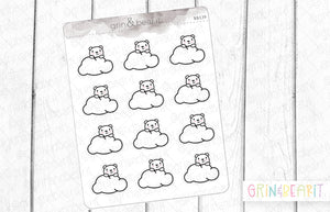 Cloud Barry! - Barry the Bear Stickers (BB139)