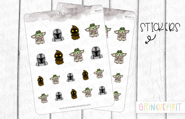 Mandalorian Barry! - Barry the Bear Stickers (BB149)