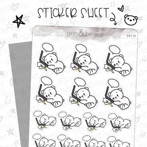 Barry Overworked! - Barry the Bear Stickers (BB170)