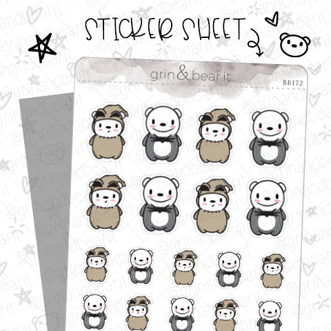 Barry Oogie/Skellington! - Barry the Bear Stickers (BB172)