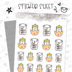 Barry Eggtastic! - Barry the Bear Stickers (BB182)