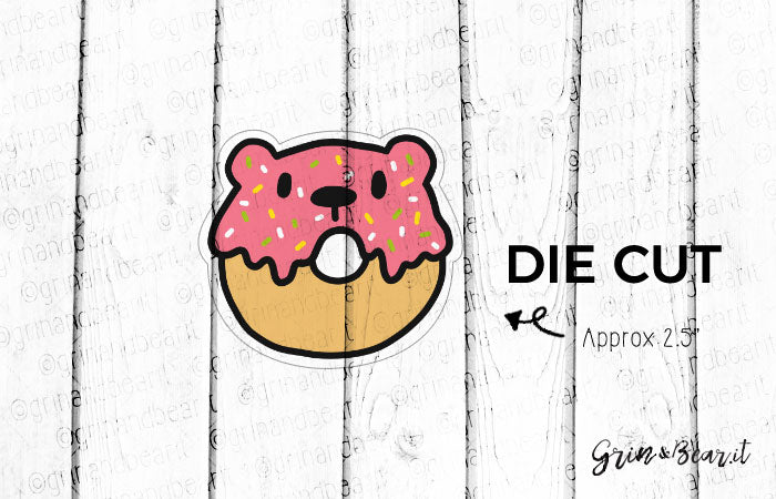 Sprinkled Donut Barry - Barry the Bear Diecut