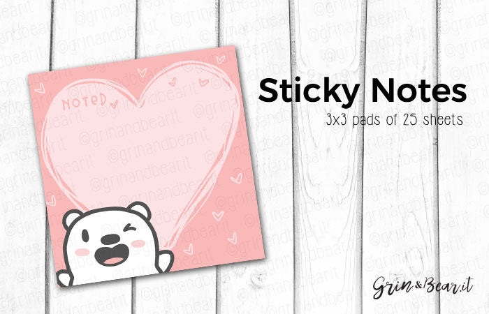 Barry Doodle Hearts Sticky Notes (SN002)