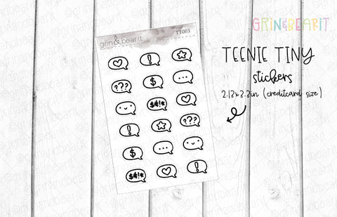 Icon Doodle Bubble! - Tiny Tuesday Stickers (TT003)