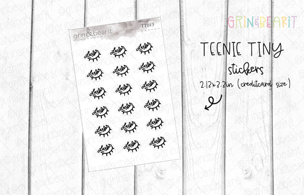 Lashes Doodles! - Tiny Tuesday Stickers (TT013)