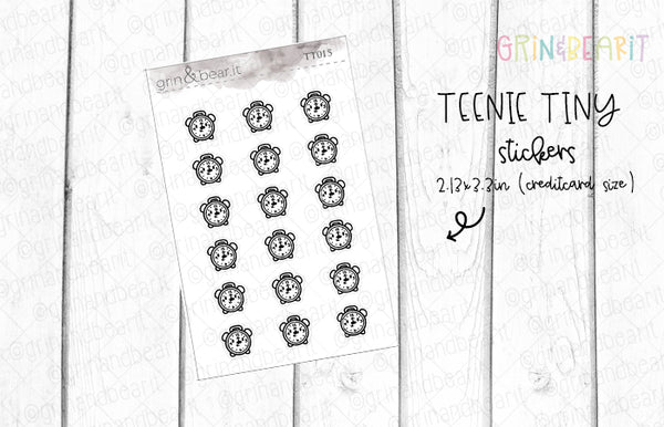 Clock Doodles! - Tiny Tuesday Stickers (TT015)