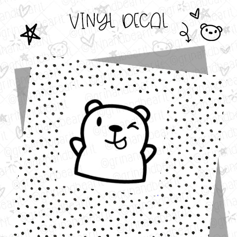 Barry the Bear Wink Vinyl Decal