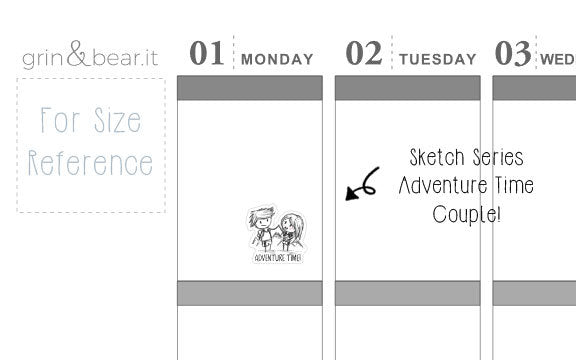 Adventure Time Sketchy Planner Stickers (SS006)