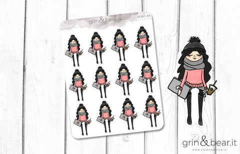 Bundled Up to Go - Everyday Girl Stickers (EG005)