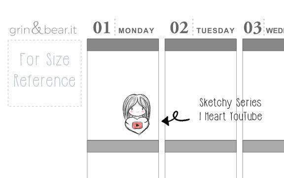 I Heart YouTube Sketchy Planner (SS011)