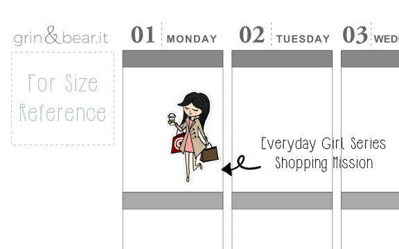 Shopping Mission - Everyday Girl Stickers (EG007)