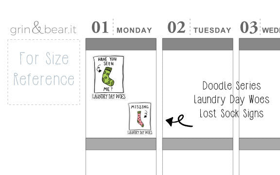 Laundry Day Woes : Lost Sock Doodle Stickers (DS002)