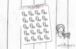 Shopping Day Sketchy Planner Stickers (SS008)