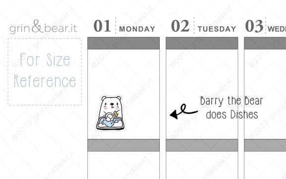 Dishes - Barry the Bear Stickers (BB010)