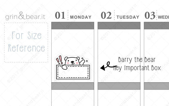 Hey Important Box! - Barry the Bear Stickers (BB016)