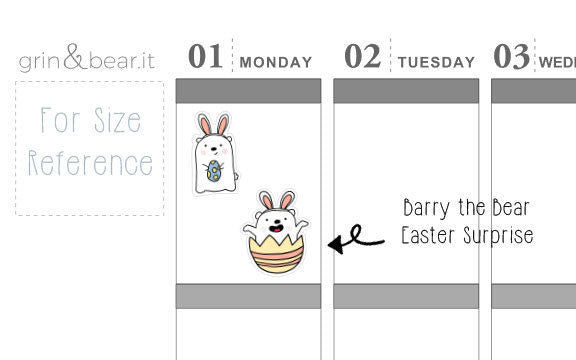 Easter - Barry the Bear Stickers (BB004)