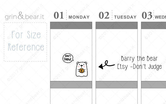 Etsy Barry! - Barry the Bear Stickers (BB022)