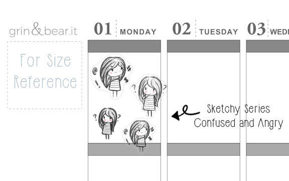 Confused and Angry Emotions Sketchy Planner (SS013)