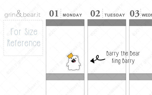 King Barry! - Barry the Bear Stickers (BB028)