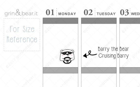Cruising Barry! - Barry the Bear Stickers (BB029)