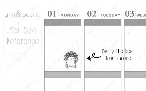 Iron Throne! - Barry the Bear Stickers (BB036)