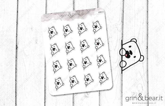 Peek-a-Boo Barry! - Barry the Bear Stickers (BB023)