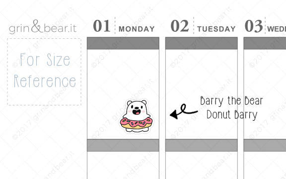 Donut Barry! - Barry the Bear Stickers (BB030)