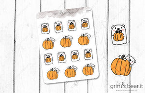 Pumpkin Barry! - Barry the Bear Stickers (BB042)
