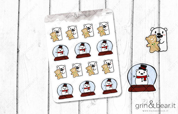 Holiday Barry! - Barry the Bear Stickers (BB055)
