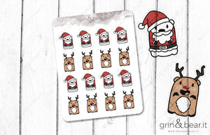 Santa Barry! - Barry the Bear Stickers (BB054)