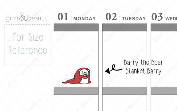 Blanket Barry! - Barry the Bear Stickers (BB052)