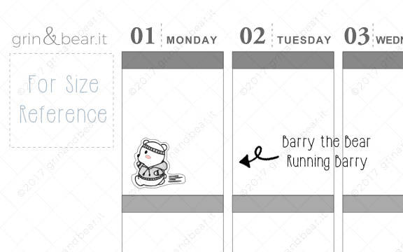 Running Barry! - Barry the Bear Stickers (BB059)